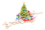 Christmas and New Year holidays in Japan concept. 3D rendering - 182768209