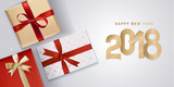 New Year greeting card. Vector illustration concept for greeting cards, website and mobile banners, marketing material. - 182768689
