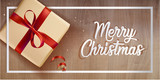 Merry Christmas greeting card. Vector illustration concept for greeting cards, web banner, flayer brochure, party invitation card. - 182768880