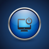 Push Button - Dark Blue Web Icon - 182794860