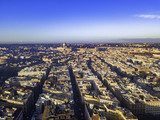 Aerial drone panoramic cityscape, architecture and landmark. View of Rome from the top, Italy