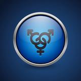Push Button - Dark Blue Web Icon - 182795898