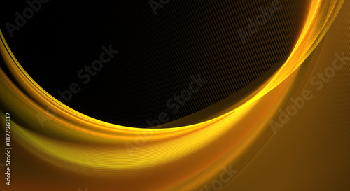In de dag Abstract wave Abstract fractal gold wave on a black background