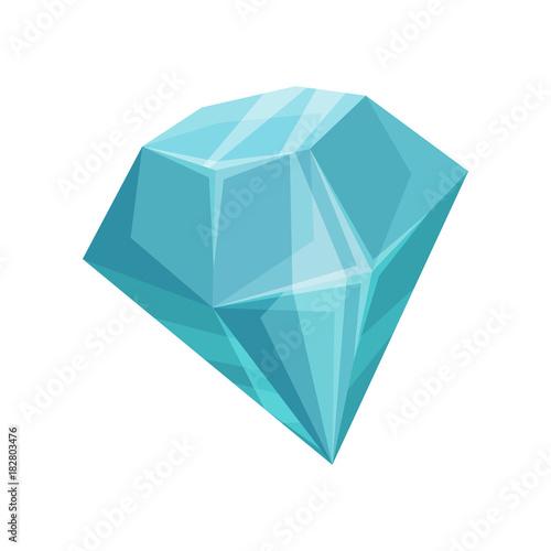 Niebieski diament kreskówka wektor ilustracja