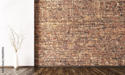 Interior of empty room background 3d render - 182809453