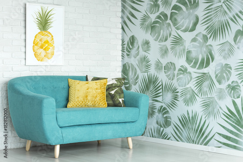 Pineapple poster in living room - 182812000