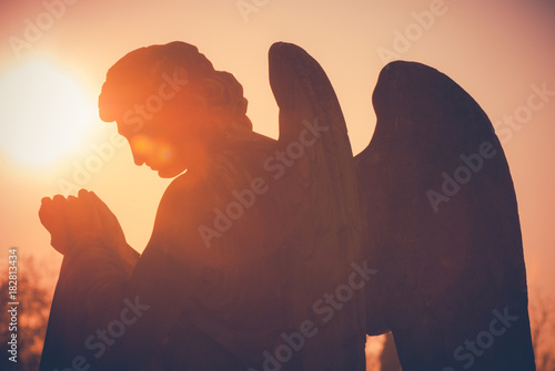 guardian angel - vintage style photo - 182813434
