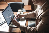 Businessman Typing on Laptop - 182816055