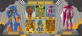 videogame choose robot screen - 182823062