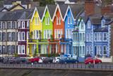 bunte Häuser in Whitehead bei Carrickfergus, Nordirland - 182826430