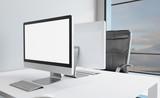 Modern office Cabinet. Meeting room. 3D rendering. - 182826441