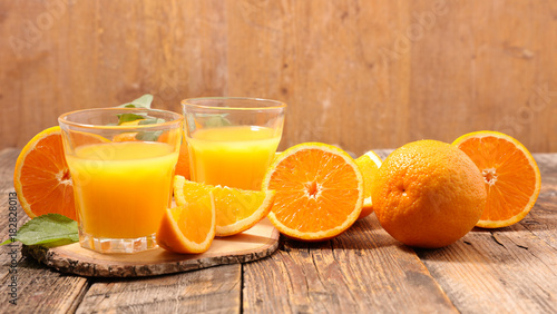 Poster Sap orange and juice