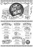 Food menu restaurant template. - 182828815