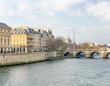 Seine river and city skyline - Paris, France