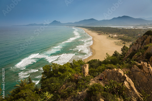 Foto op Canvas Blauwe jeans Sardinia offers very beautiful landscapes. Sandy beachses and lovely seascapes.