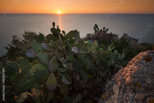 Foto op Aluminium Zee zonsondergang Sardinia offers very beautiful landscapes. Sandy beachses and lovely seascapes.