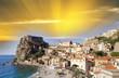Quadro Aerial view of Scilla coastline in Calabria, Italy
