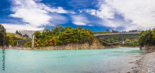 Plexiglas Fyle Bridges over Rakaia River
