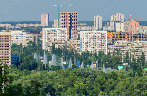 Foto op Plexiglas Kiev Residential area of the big city