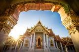 Bangkok City - Benchamabophit  dusitvanaram temple from Bangkok Thailand - 182845294