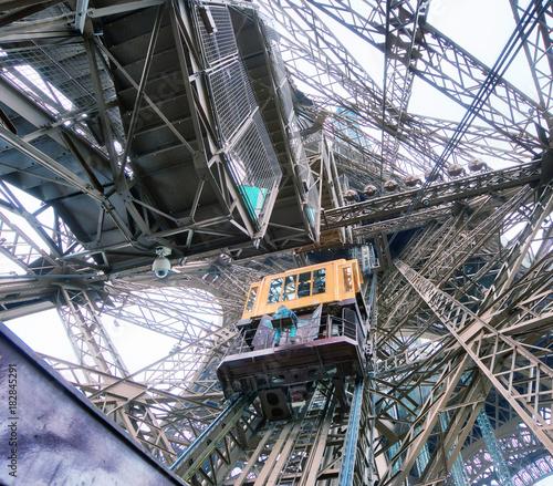 Plexiglas Eiffeltoren Internal metallic structure of Eiffel Tower in Paris - France