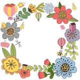 Botanical floral frame