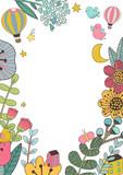 Botanical floral frame - 182846433