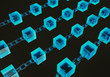 Block chain concept digital code chain 3d rendering