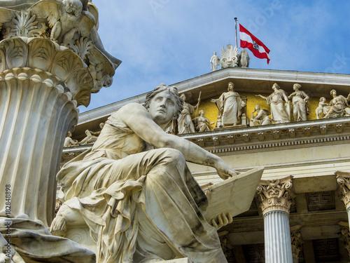 Keuken foto achterwand Historisch geb. austria, vienna, parliament