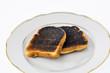 burnt toast slices of bread - 182850490
