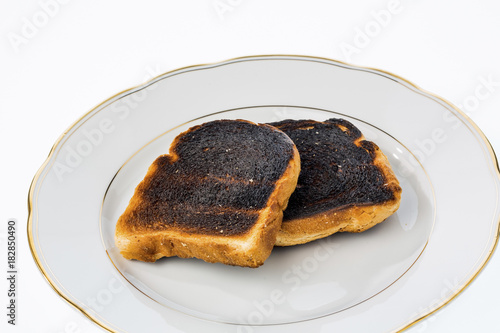 Keuken foto achterwand Eten burnt toast slices of bread