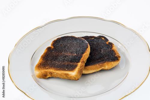 Foto op Aluminium Eten burnt toast slices of bread