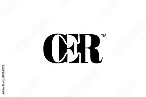 CER Logo Branding Letter. Vector graphic design. Useful as app icon, alphabet combination, clip-art, and etc.