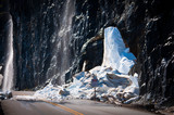 Snowslide on a highway - 182863480