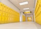 Yellow School Lockers Light - 182874420