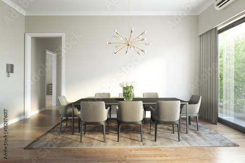 Modern chic luxury dining room
