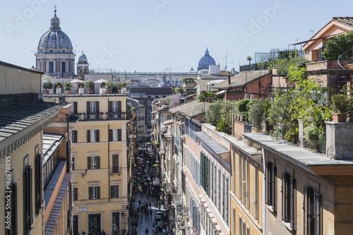 Foto op Canvas Rome Roma, vista di via Frattina