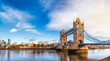 London cityscape panorama with River Thames Tower Bridge and Tower of London in the morning light - 182882496
