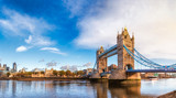 Fototapeta Londyn - London cityscape panorama with River Thames Tower Bridge and Tower of London in the morning light © Dmitry Naumov