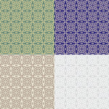 Seamless classic bicolor tiled patterns. Swatches included in vector file. - 182887280