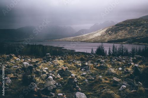 Deurstickers Bleke violet Isle of Skye - Rain
