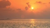View at sunset on maldivian sandbank. Travel destination - 182890682