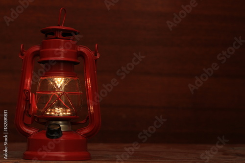 red decorative lamp Poster