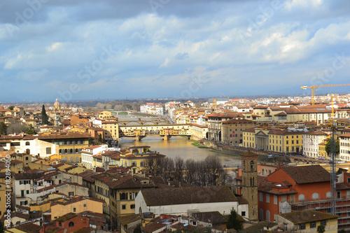 Staande foto Florence ponte vecchio firenze