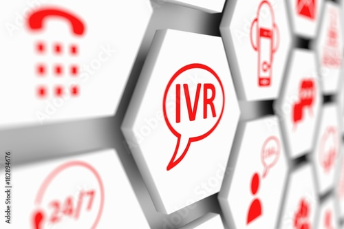 IVR concept cell blurred background 3d illustration - 182894676