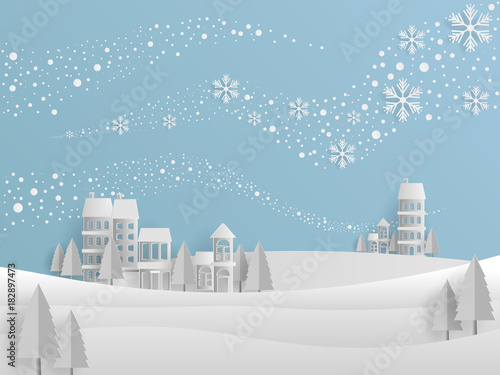 Winter Background Design Template