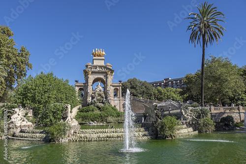 Fotobehang Barcelona Public Park in Barcelona, Spaine