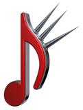 musiknote mit dornen - 182906070