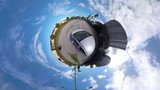 360vr tiny planet driving car road - 182909892