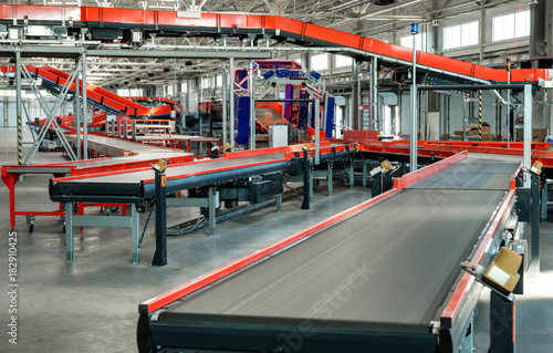 Automated sorting center Poster